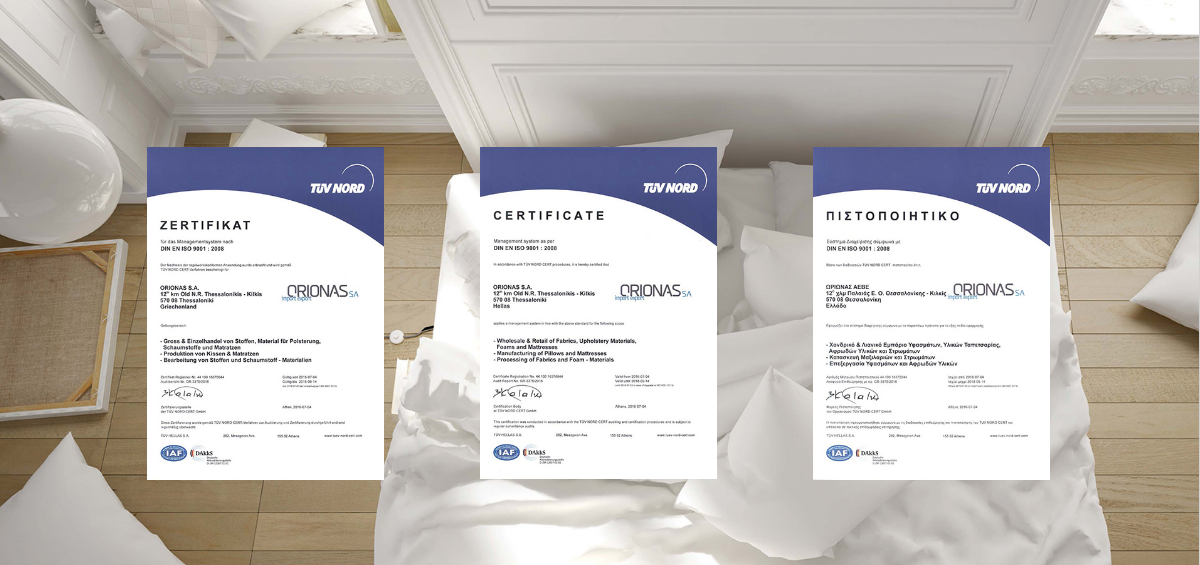 certificates orion Bakalidis Orion Strom